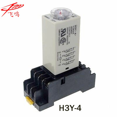 H3Y-4 AC220V 5A 60Sec 60S Omron Timer Relay 4PDT 14 PIN h3y 4 ac 220v delay timer time relay 0 5 sec with base