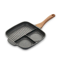 Multifunction Baking Pan Alluminum Alloy Non Stick Frying Pan Egg Breakfast Grill Pan General Use for Gas and Induciton Cooker