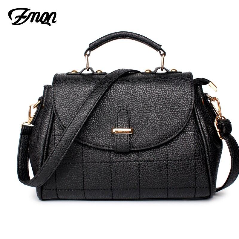где купить ZMQN Shoulder Bags For Women's Small Cheap Over Shoulder Cross Body Bag Black Light Famous Brand PU Leather Handbags Ladies A524 дешево