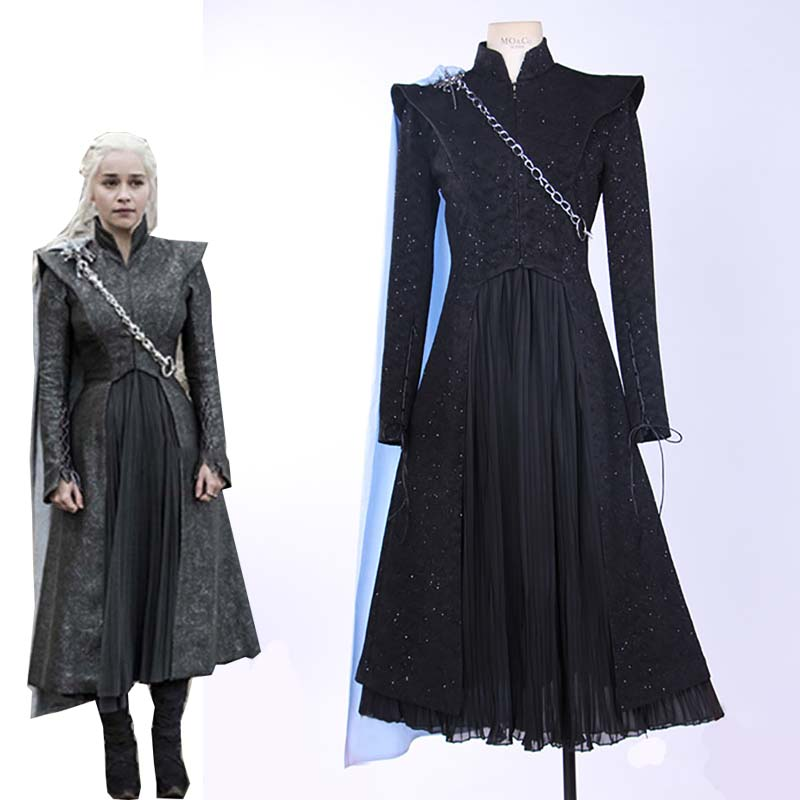 Ainiel カスタムメイドの映画ゲームの魂シーズン 8 Daenerys Targaryen コスプレ衣装女性と少女ハロウィーンカーニバル制服  グループ上の ノベルティ & 特殊用途 からの 映画 & テレビ衣装 の中 1