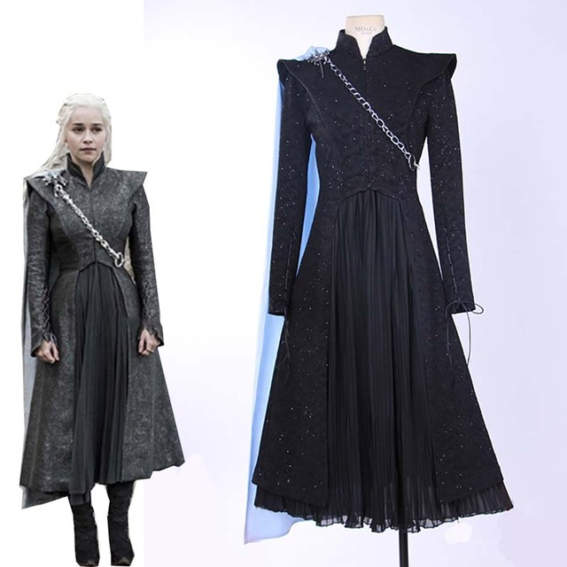 Ainiel Custom Made Movie Game of Thrones Season 7 Daenerys Targaryen Cosplay Costume Women and Girl Halloween Carnival Uniforms
