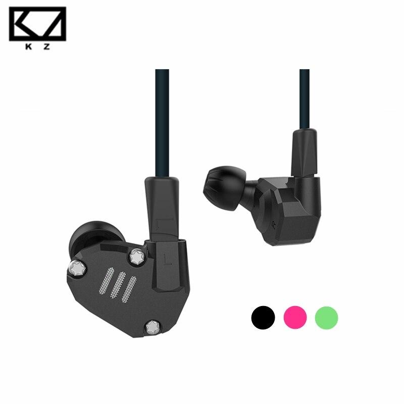 [Original] NOUVELLE Conception KZ ZS6 Écouteurs 2DD + 2BA Hybride Pilote In-Ear Intra-auriculaires HIFI Bruit Lsolating Casque Stéréo avec Microphone
