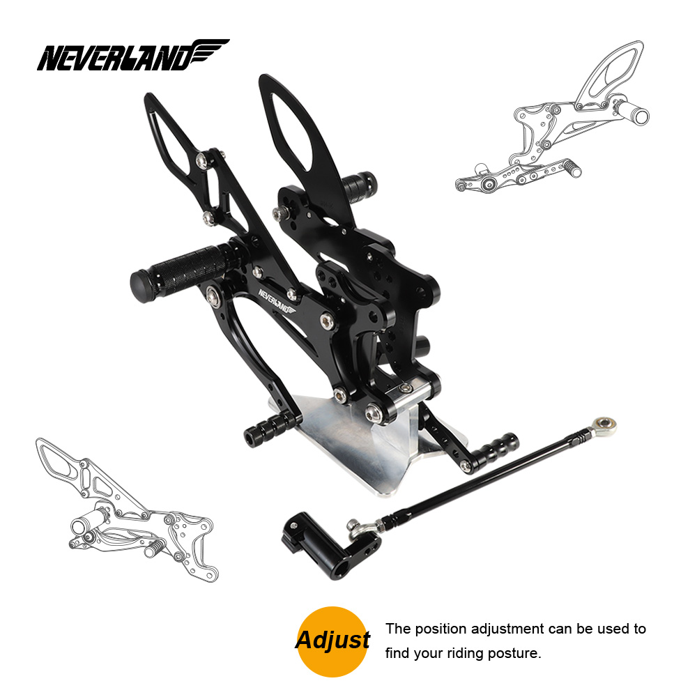 Motorcycle Motors Accessories Parts Foot Rests Rear Set Adjustable Foot Pegs Adjustable For Yamaha YZF R1 2007 2008