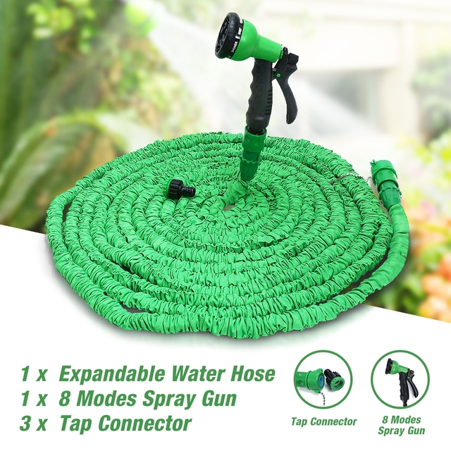Upgrade!! 25FT-100FT Garden Hose Expandable Magic Flexible Water Hose EU Hose Plastic Hoses Pipe With 8 Spray Gun To Watering