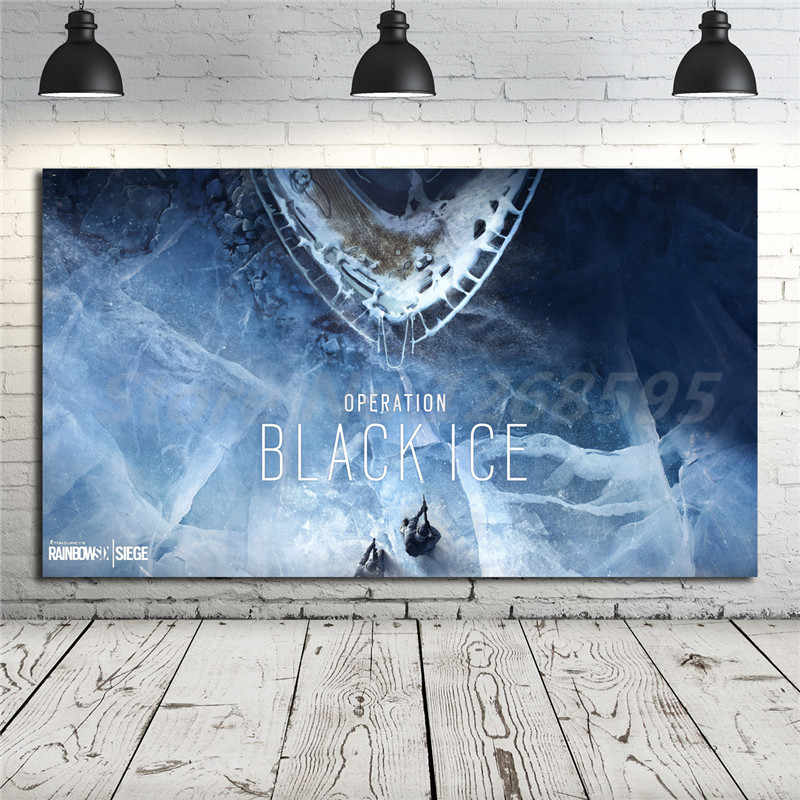 Rainbow Six Siege Operation Black Ice Hd Wallpaper Canvas Posters Prints Wall Art Painting Decorative Picture Home Decoration Painting Calligraphy Aliexpress