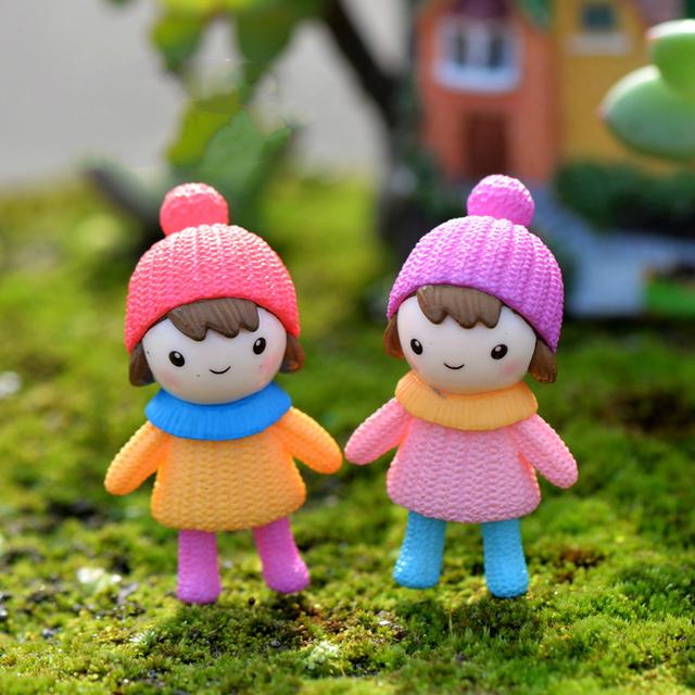 Lovely Resin Mini Dolls 4 pcs Set