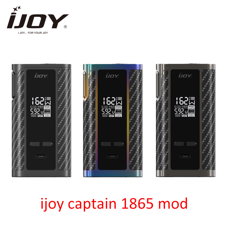 Original IJOY Captain 1865 Box MOD 162W Output 0 96 Inch OLED Huge OLED Display Fit