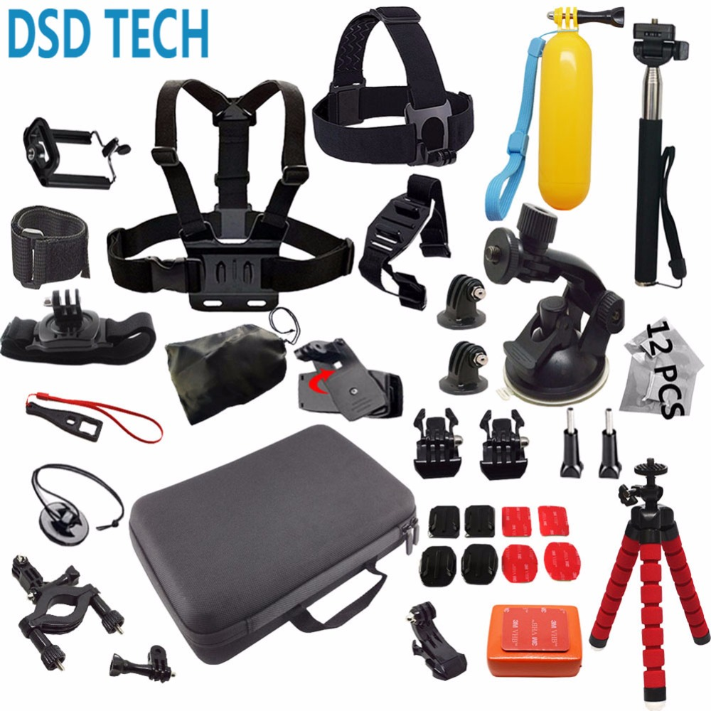DSD TECH for Gopro accessories go pro mount big case  sjcam for go pro hero 6 5 4 3 2 session sj4000 sj5000X xiaomi yi action 12E