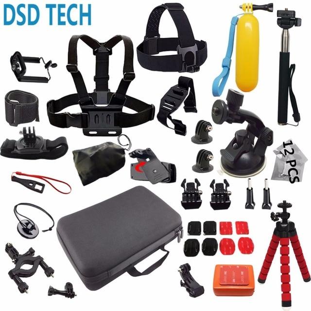 DSD TECH for Gopro accessories go pro mount big case  sjcam for gopro hero 6 5 4 3 2 session sj4000 sj5000X xiaomi yi action 12E