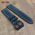 New Quality Genuine Leather Watch bands 22mm 24mm For Mens Scrub Strap For Panerai Straps Black Brown Blue Free Shipping!