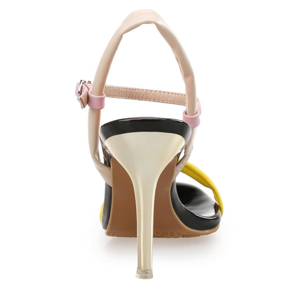 VICONE Women Summer Narrow Band Fashion Novelty Thin Heels cheap new styles JfbPr