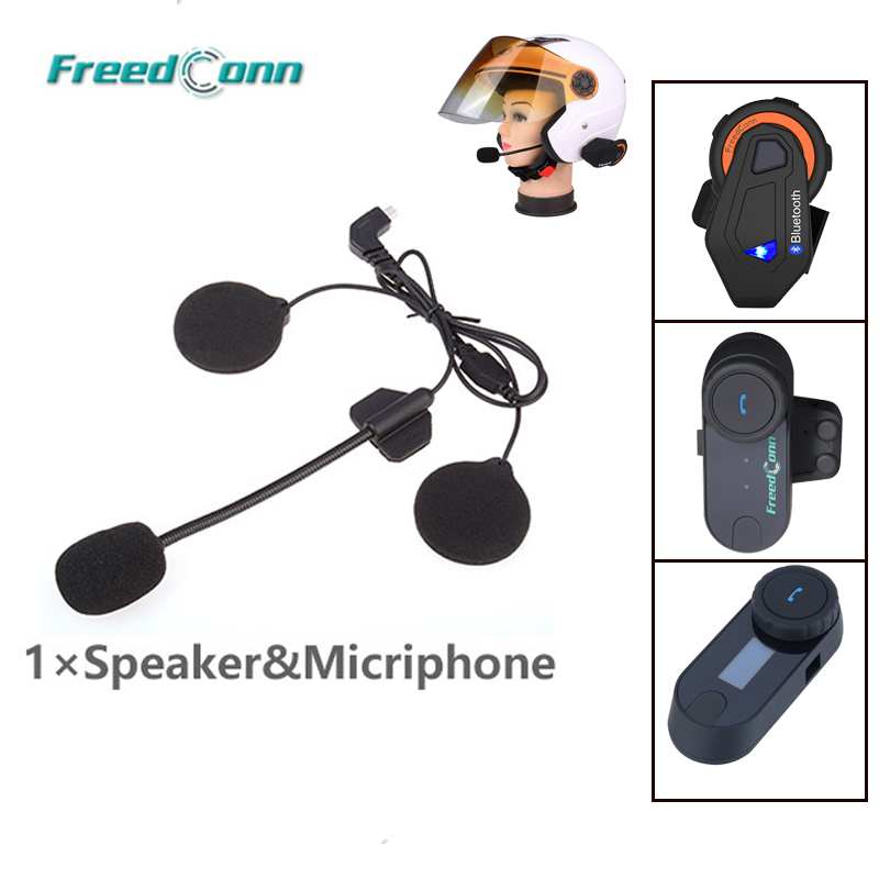 Helmet BT Intercom Accessories Mini Usd Earphone Microphone Motorcycle Intercom T-MAX T-COM-02 FDCVB T-COMVB TCOM-SC Headset