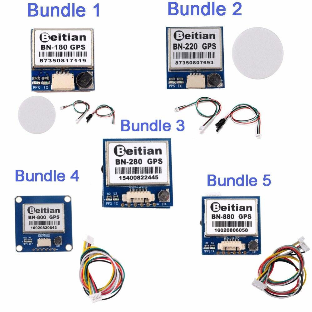 RCmall GPS Module BN-180/BN-220/BN-800/BN-880 M8030-KT avec Antenne pour Contrôleur de Vol FZ2917 FZ2918 FZ2919 FZ2920