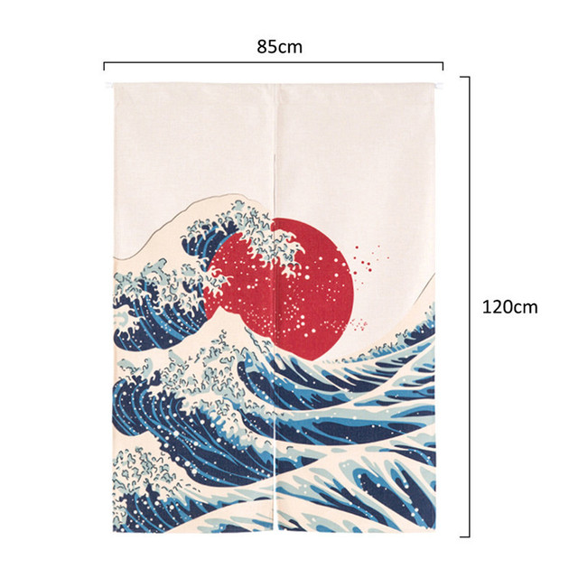Japanese Style Canvas Door Curtains 5