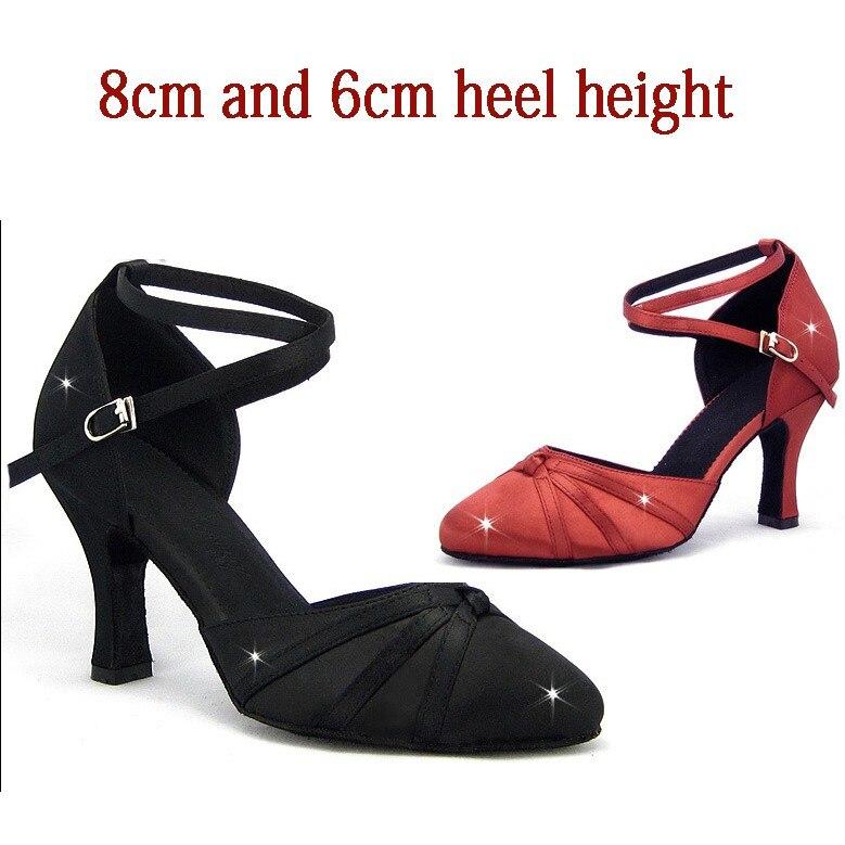 Женские туфли для латиноамериканских танцев, туфли с закрытым острым носком для бальных танцев, сальсы для девочек, туфли для латиноамерика...