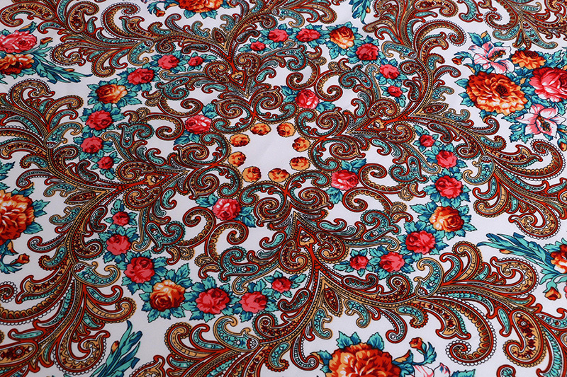 Russian Style Floral Pattern Wraps