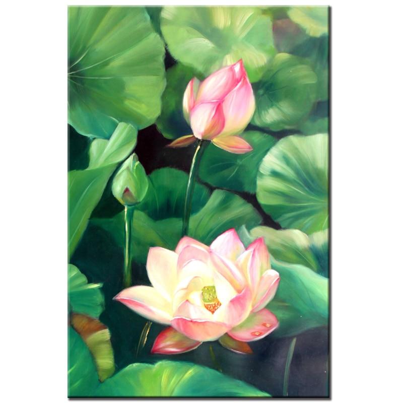 Rózsaszín Lotus gyémántfestés keresztszemes Virágok DIY 5D - Művészet, kézművesség és varrás