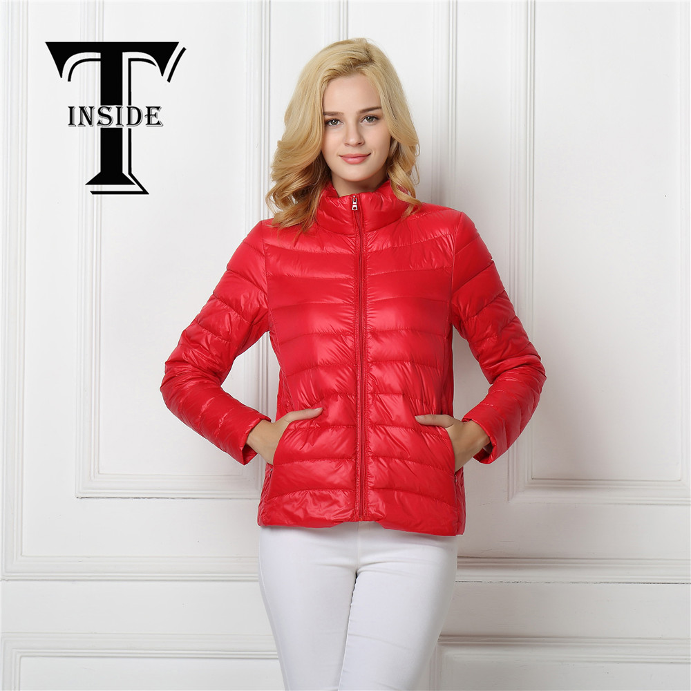 Winter   Coat   Women   Down   Female Spring Padded Warm   Coat   Ultra Light Duck   Down   Padded Jacket Short Female Overcoat Slim Solid   Coat