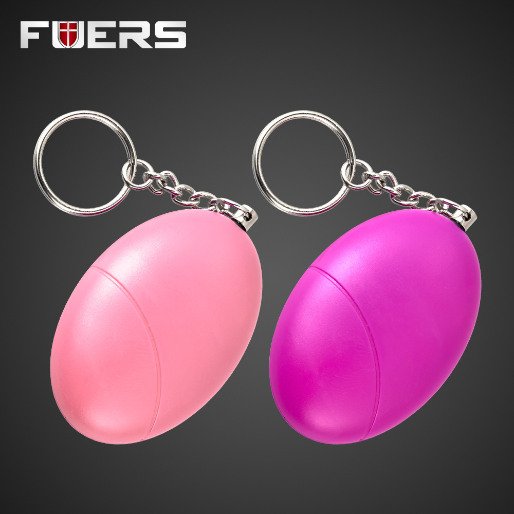 2 Pcs Anti-Attack Egg Shape Personal Anti-Defense Anti-Rape Security Alarm System Keychain Anti Wolf Loud Device 5 pcs pink sos personal angel wings alarm anti attack protection safety personal security alarm system keychain