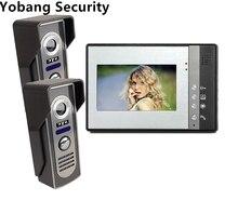 Yobang Security freeship Villa Video Door Phone Night Vision Speakerphone Camera 7″ LCD monitor Handfree Camera video door bell