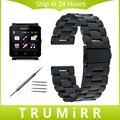 24mm pulseira de aço inoxidável para sony smartwatch 2 sw2 substituição watch band bracelet strap com ligação removedor e barras de molas