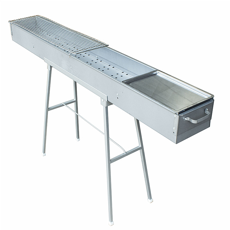 Barbecue tools barbecue oven business 150 cm long 18 wide barbecue grill charcoal equipment put barbecue stalls