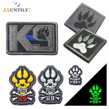JAUNTILY 3D Embroidery K-9 Tactical LSAF Attack Dogs of War Badge Morale Military Patch Armband US Army Swat