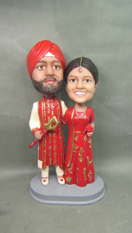 Personalized Bobblehead Doll India Couple Wedding Gift