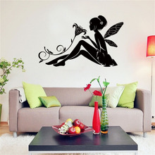 Angel  Fairy Wall Sticker Kids Bedroom Decoration Gift Creative Little Girl for Home House Art Poster