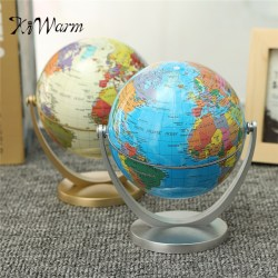 KiWarm Simple 360 Degree Rotating Globes Earth Ocean Globe World Geography Map Table Desktop Office Decor Ornament