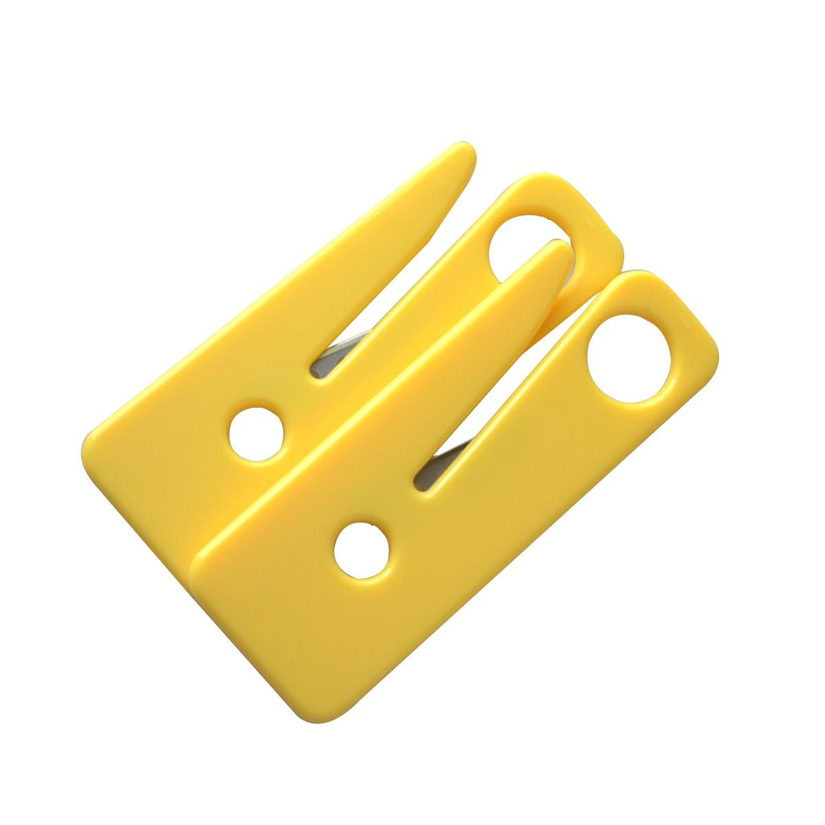 50 pièces ceinture de sécurité Cutter ceinture de sécurité couteau de sécurité jaune voiture Kit de sauvetage outils de survie en plein air