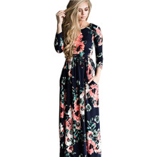 Liva Ragazza Estate Boho Beach Dress Women 2017 Fashion Floral Donne lungo Maxi Dress Abiti Donna Party Dress Plus Size 3XL 50(China)