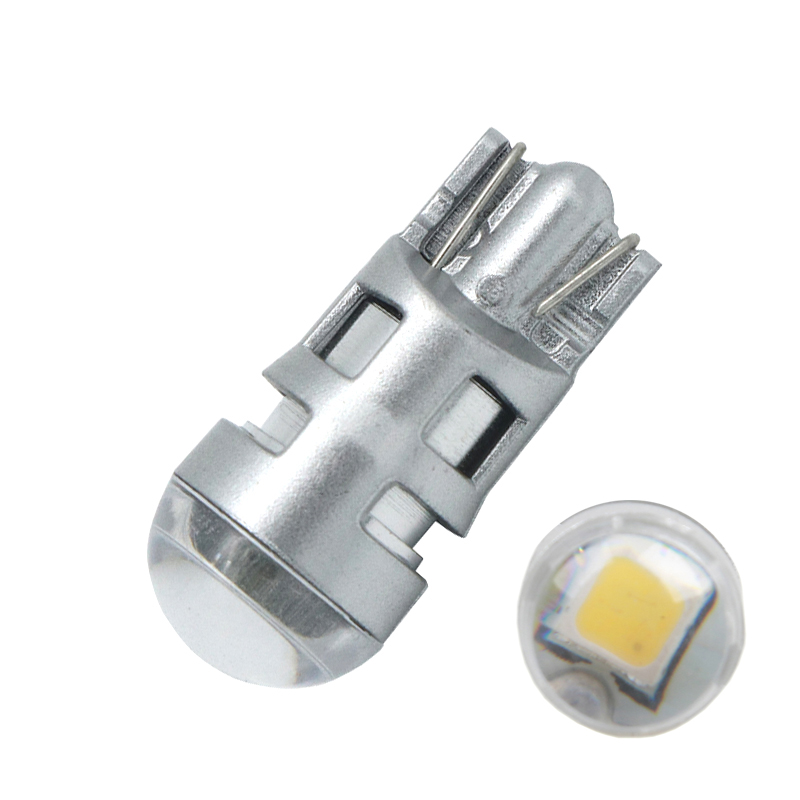 2pcs T10 168 194 2825 W5W For CREE Chip Led Replacement Bulbs Car License Plate Parking Lights Lens White/Yellow/Blue/Red