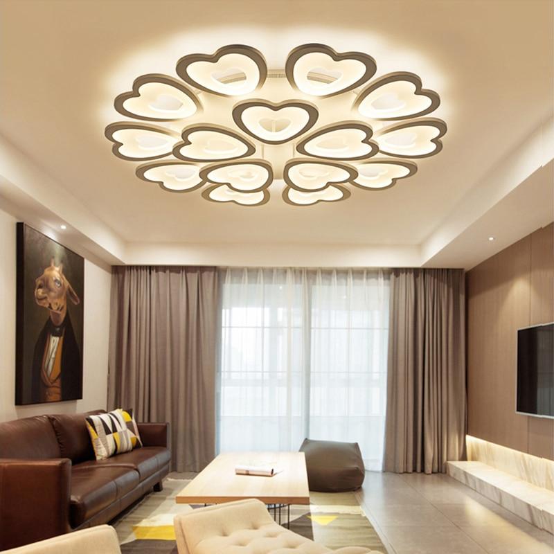 US $79.98 50% OFF|LED living room ceiling lighting Acrylic chandelier  ceiling Modern bedroom Children\'s room Circular lights indoor home  fixtures-in ...