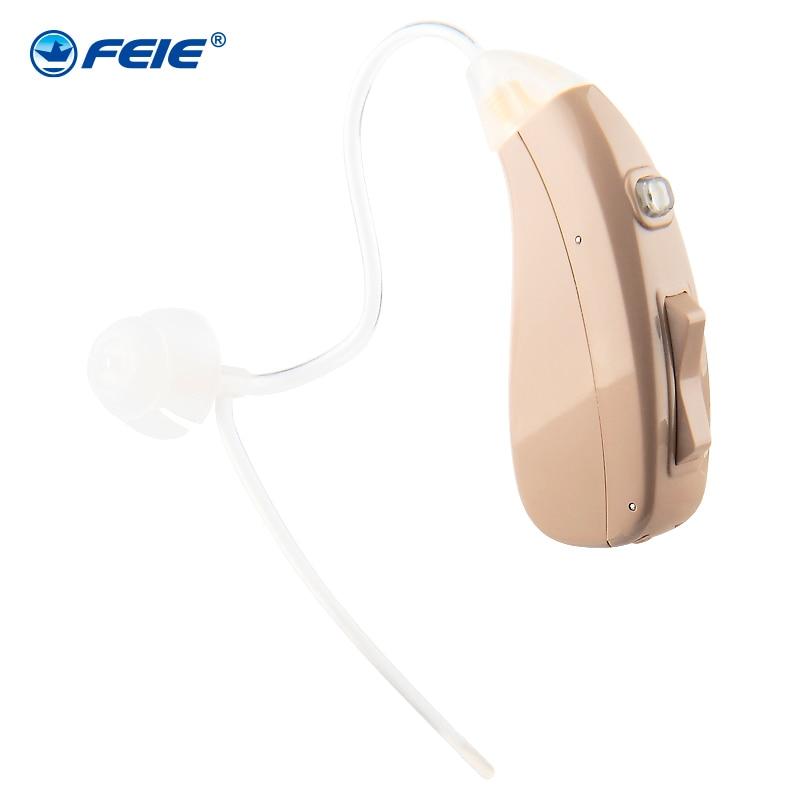 FEIE Aparelho Auditivo Adjustable Hearing Aid Invisible Sound Voice Amplifier Volume Deaf-aid with RIC BTE Hearing tubes MY-202 feie voice amplifier ear deaf fitting range 80db my 20 digital ric hearing aid machine ear best sound