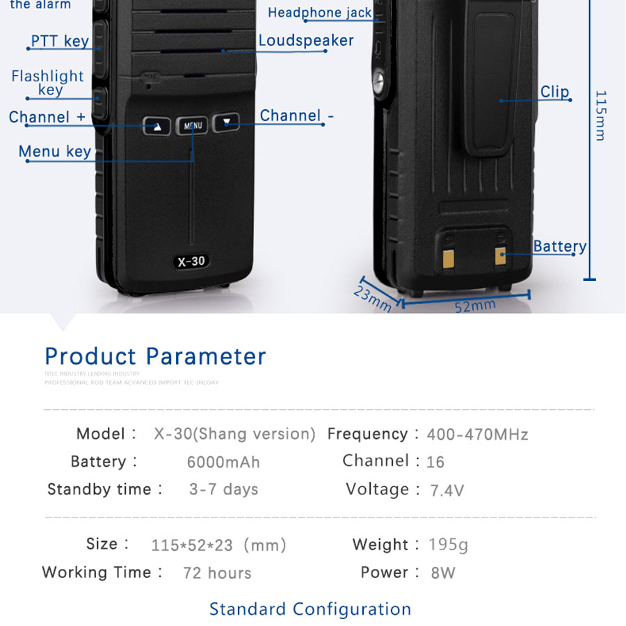 (2pcs) KSUN X-30 handheld walkie talkie portable radio 8W high power UHF Handheld Two Way Ham Radio Communicator HF Transceiver HTB1ecttgBDH8KJjSspnq6zNAVXac
