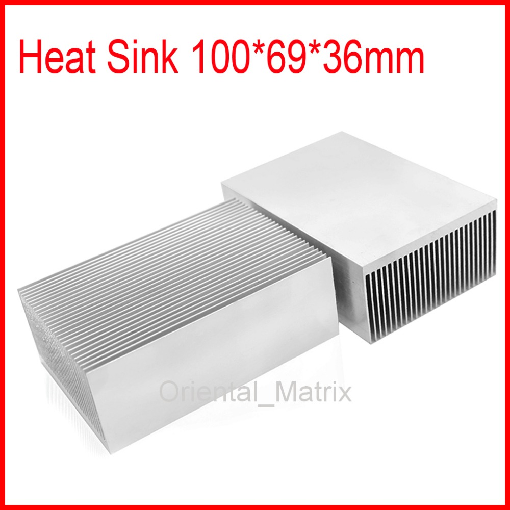 Free Shipping HeatSink Heat Sink Radiator 100*69*36mm Small Radiator - Silver 200pcs lot 0 36kg heatsink 14 14 6 mm fin silver quality radiator