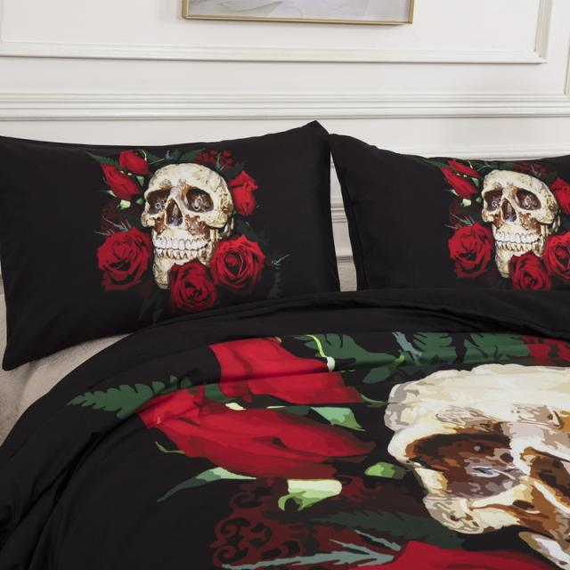 SKULL ROSE 3D BEDDING SETS
