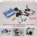 For Mercedes Benz C Class W203 4D 2001~2007 - Car Parking Sensors + Rear View Camera = 2 in 1 Visual / BIBI Alarm Parking System