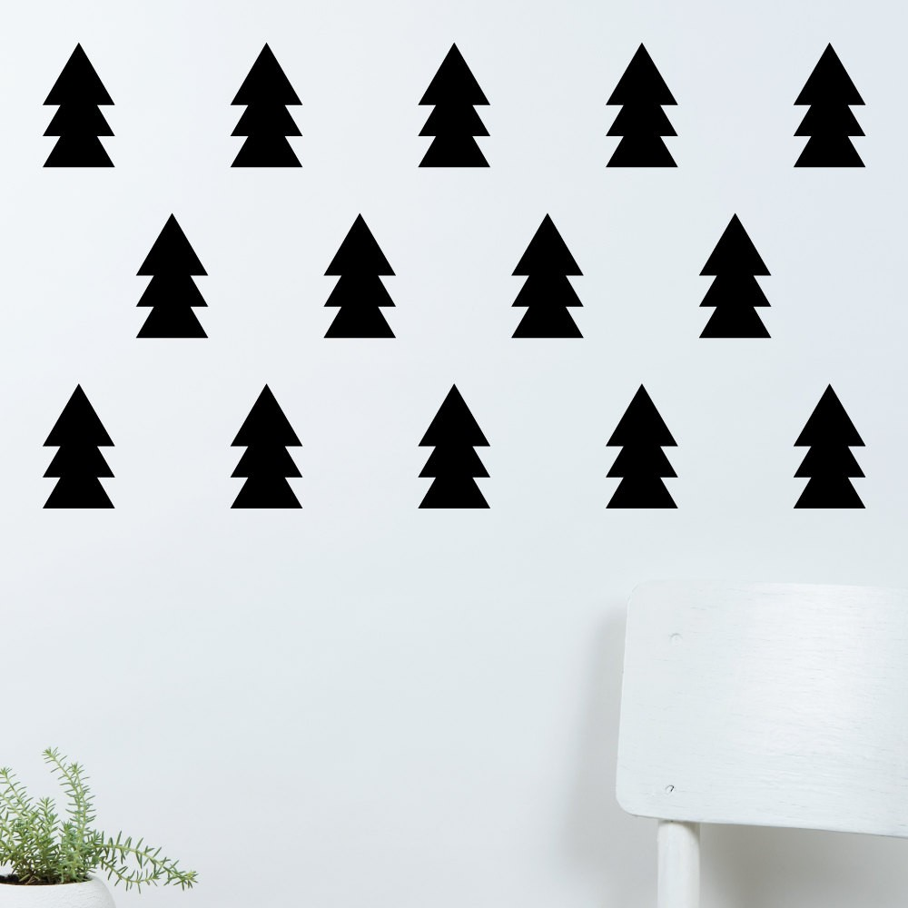 Christmas Trees Silhouette.Us 9 58 25 Off Special Christmas Tree Silhouette Cute Wall Stickers Home Children Bedroom Loving Decor Set Patterned Trees Wallpaper Wm 509 In Wall