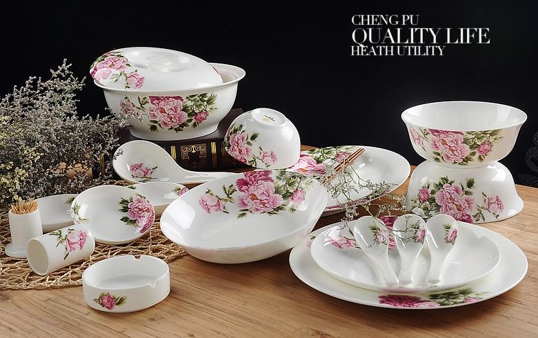 popular china dinner sets buy cheap china dinner sets lots. Black Bedroom Furniture Sets. Home Design Ideas