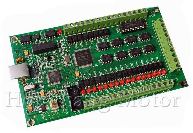 New 4 Axis CNC USB Card Mach3 200KHz Breakout Board Interface 4 axis mach3 cnc usb 200khz breakout board interface card for routing machine windows2000 xp vista 7