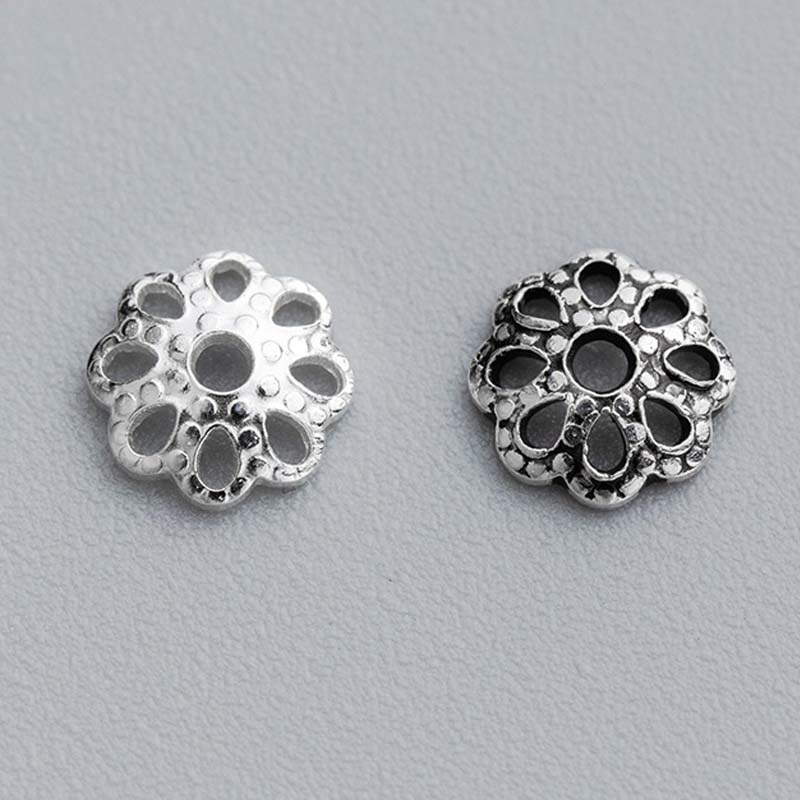 STERLING SILVER 6mm HOLLOW BEAD JEWELLERY MAKING