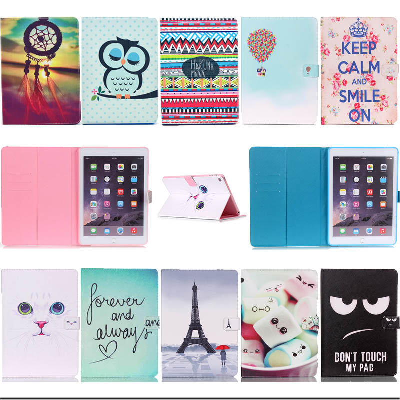 Mini4 Black Eye Cat tower Design PU Leather Stand Case For Apple iPad mini 4 Protective Tablet Cover with card Holder A1538
