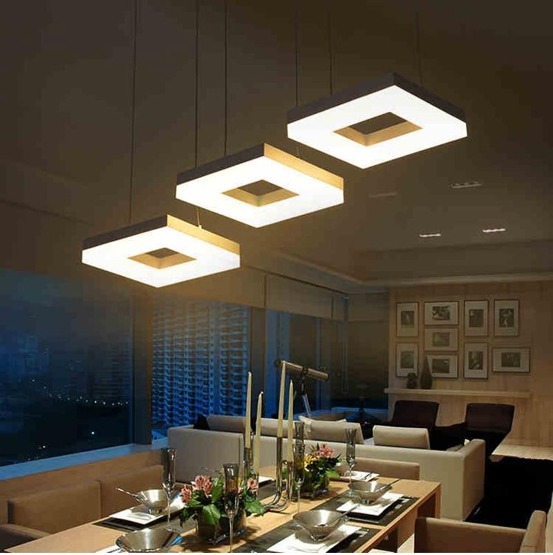 Modern Led Pendant Lamps Living Room Acrylic Fixture: Modern Led Pendant Lights For Dining Room Living Room