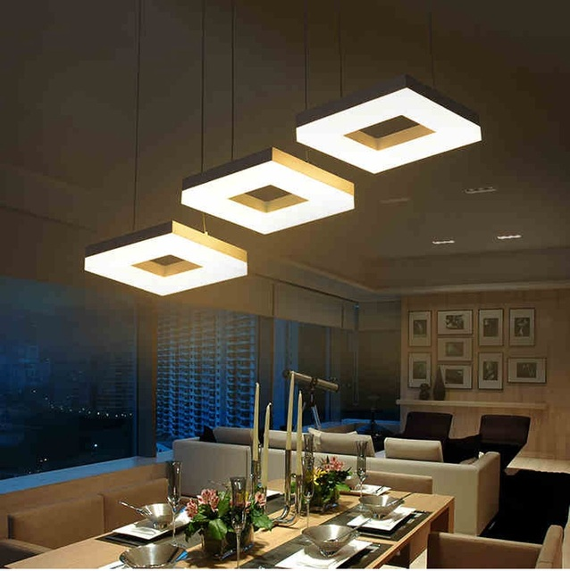 Modern led pendant lights for dining room living room Acrylic ...