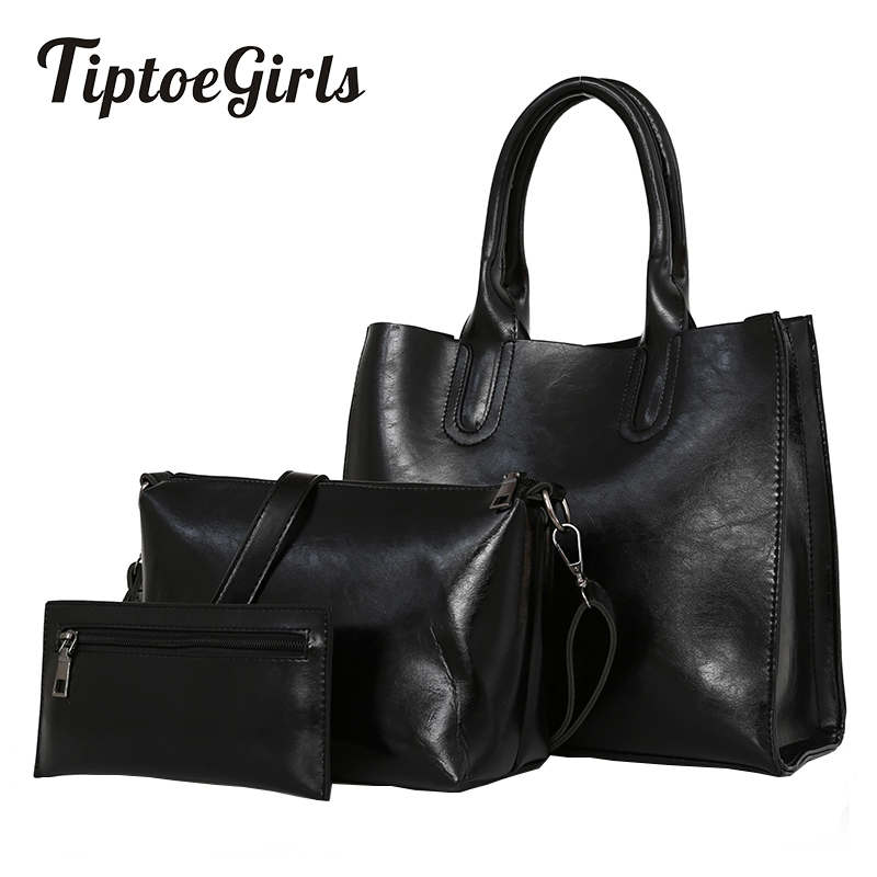 Korean Version of The New Fashion Trend Simple Retro Handbag Handbag Shoulder Messenger Bag Three Sets of Women's Handbags 2018 women s new handbags made of pu in korean version 3pcs handbag shoulder bag purse
