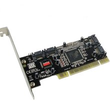 Free shipping PCI card 4 Port SATA add on Card with Sil 3114 Chipset Compliant with PCI Specification, revision 2.2 for computer