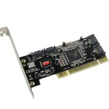 Cartão de expand pci, 4 entradas sata adicionar no cartão silk 3114 chipset com alteração de especificação pci 2.2 para desktop/computador