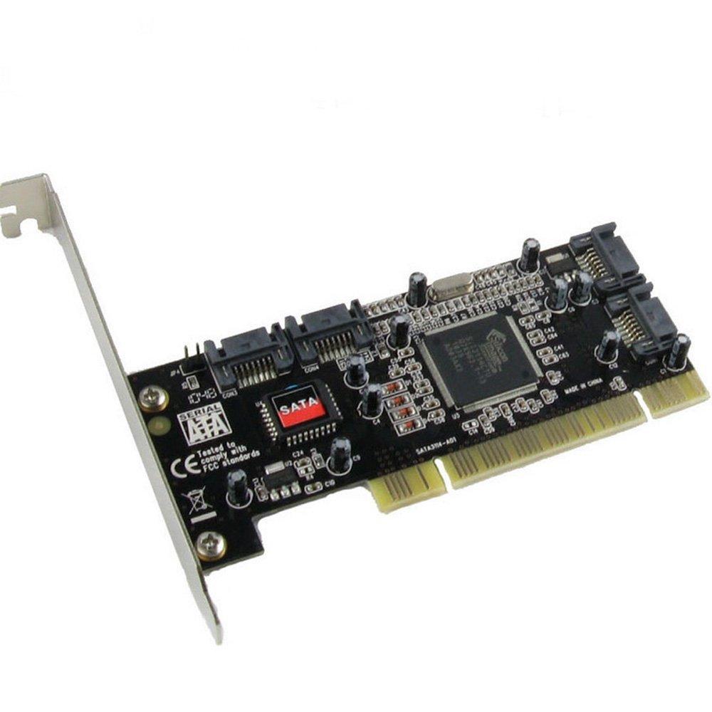 PCI ampliar Tarjeta 4 Puerto SATA añadir tarjeta con Sil 3114 Chipset a con especificación PCI revisión 2,2 para escritorio/ordenador